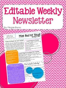 school weekly newsletter templates free weekly monthly newsletter for all students on what