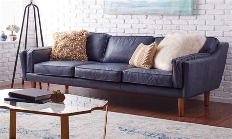 beatnik oxford leather sofa how to decorate with a blue sofa overstock