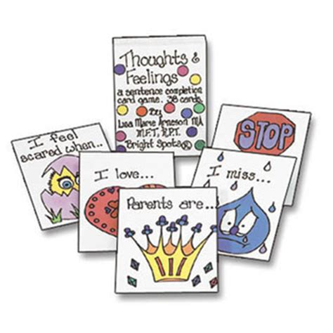 a therapeutic treasure deck of feelings and sentence completion cards therapeutic treasures collection books grief anger fears thoughts feelings sentence completion