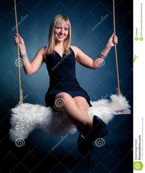 swing woman woman on swing stock images image 12483984