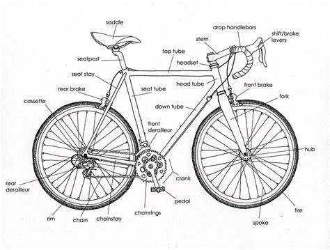 bike parts list template bicycle parts diagram raleigh tourist best free home