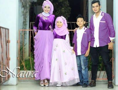 Baju Muslim Keluarga Warna Ungu 15 model baju keluarga muslim terbaru 2018