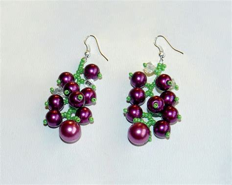 free patterns for beaded earrings beadsmagic free pattern for beaded earrings currant