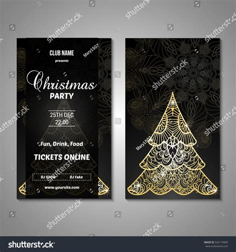 christmas trees for sales flyers set stylized tree invitation flyer stock vector 542110909