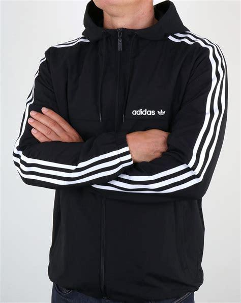 Jaket Adidas 3 Stripe adidas originals 3 striped windbreaker black jacket