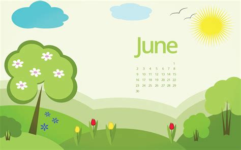 In June june 2017 wallpaper calendar for desktop laptop mobile