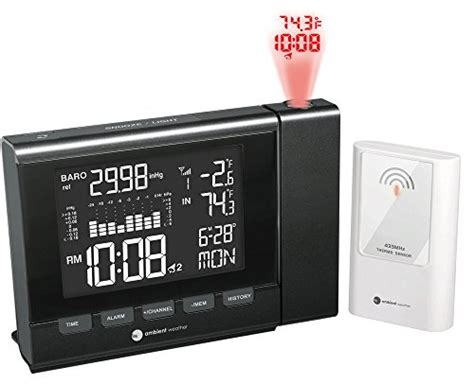ambient weather ws 8400 projection clock with indoor and