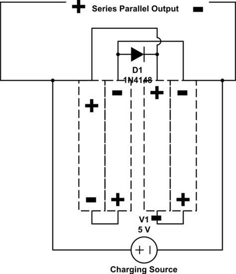 series battery circuits charging batteries in series when they are connected in parallel in the circuit electrical