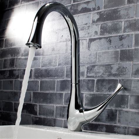 kitchen sink and faucets single handle kitchen sink faucet chrome modern