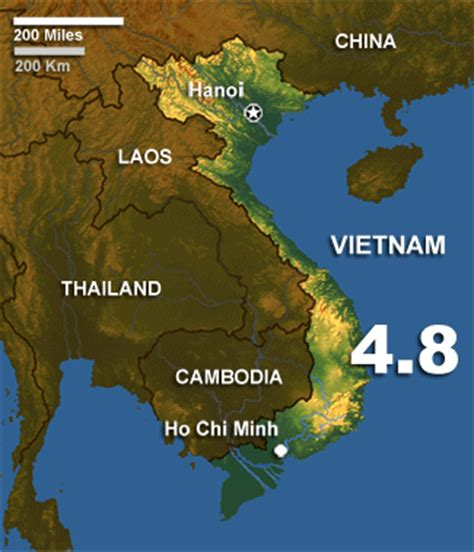earthquake vietnam southern vietnam shaken by moderate earthquake