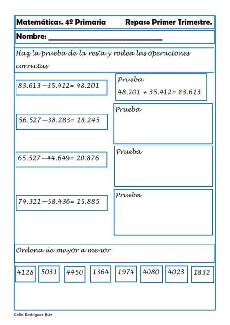 problemas de matematicas para cuarto de primaria gratis hermoso problemas de matematicas cuarto de primaria fotos