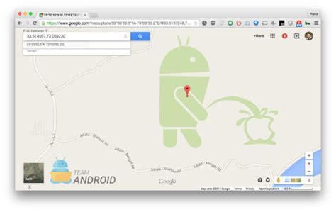 apple maps for android android logo found on apple logo in maps via codeandcommand