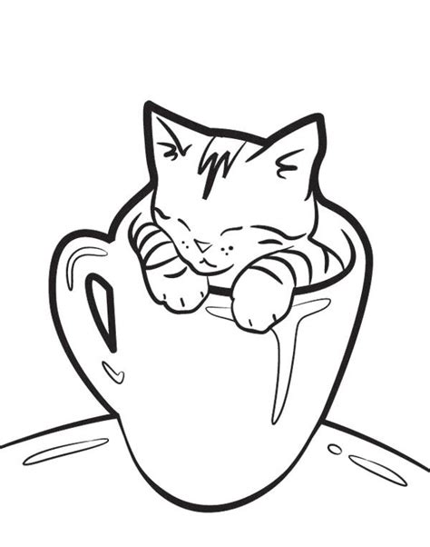 coloring pages of baby cats the glass cat coloring page coloring pages pinterest