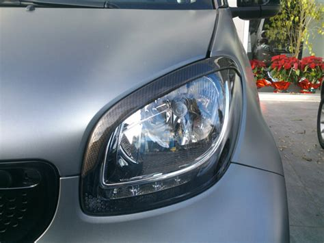 smart car headlight headlight eyebrows smart fortwo 453 look carbon smart