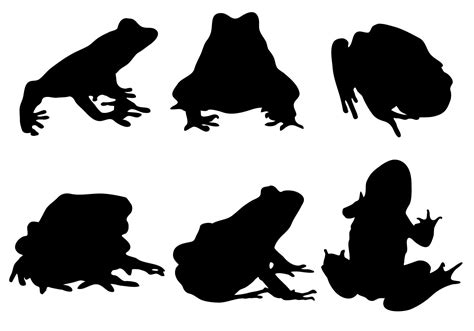 silhouette vector free frog silhouette vector download free vector art