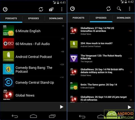 podcast app for android 5 best podcasts apps for android go android apps
