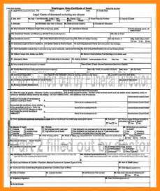 9 death certificate template actor resumed