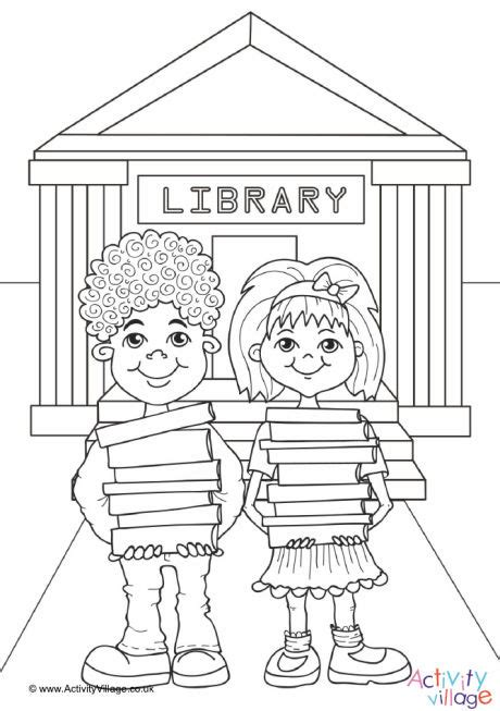 the archives coloring book books library colouring page