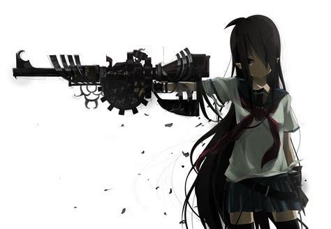 wallpaper anime girl with gun wallpaper of the week machine gun girl randomness thing
