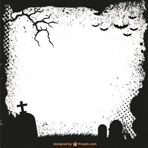 template photoshop halloween halloween frame silhouette vector free download