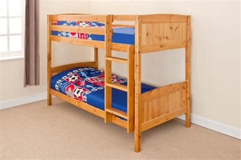 Bunk Beds That Separate Into Single Beds 3ft Single Bunk Bed Wooden Frame In Pine White Can Split Into 2 Singles Ebay