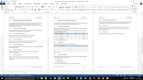 hardware documentation template acquisition plan template ms word excel