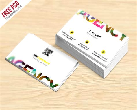 business card template creative 300 best free business card psd and vector templates