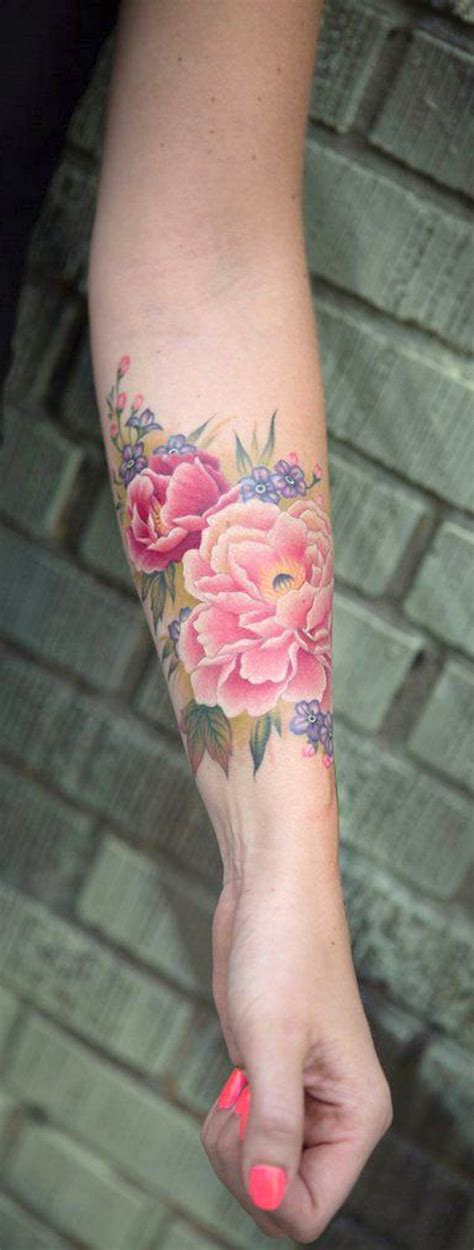 watercolor tattoo la colorful watercolor flower forearm ideas for