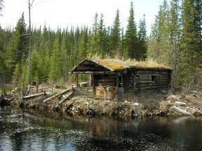 lloyd s log cabin with sod roof in yukon