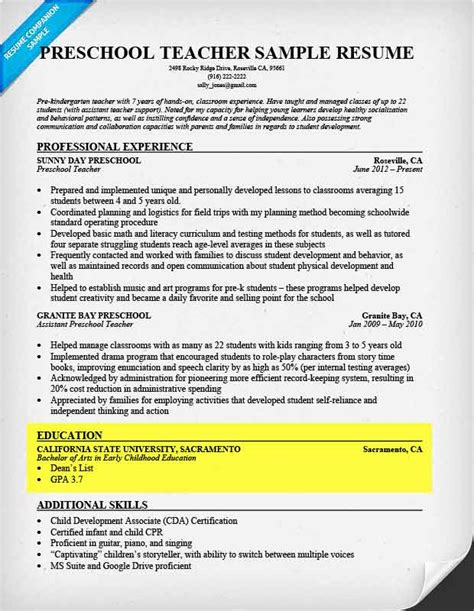 education section of resume how to write a resume resume companion