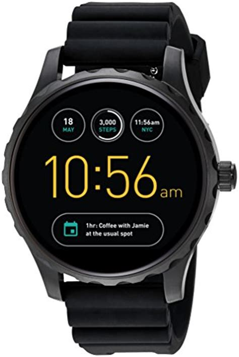 Tempered Glass Smartwatch Fossil Q Marshal fossil ftw2107 fossil q marshal 2 black silicone