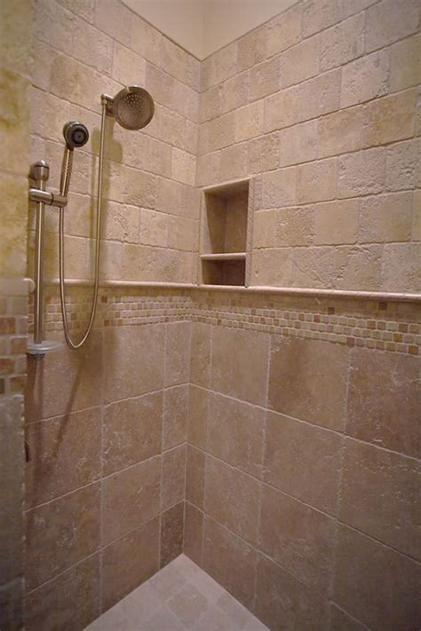Travertine Tile Bathroom Ideas Travertine Tile Shower Designs Travertine Shower