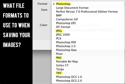 File Format Questions | the guide to file formats how you should save your images
