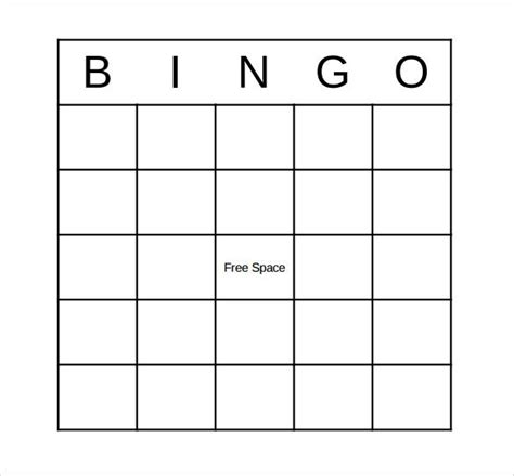 free template of a bingo card bingo card template doliquid