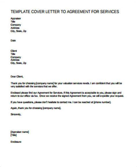 cover letter for contract agreement 9 sle agreement letter free sle exle format