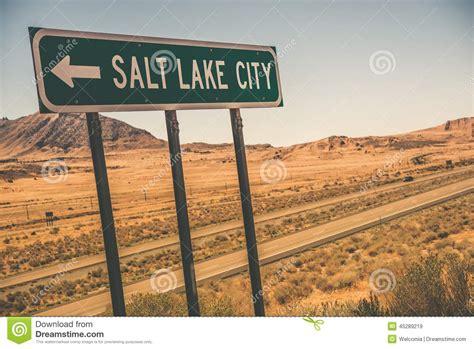 x salt lake city panneau routier de salt lake city image stock image du