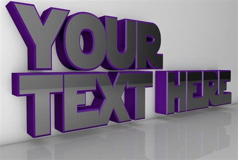 Your Name Or Text create 3d text of your name or any text fiverr