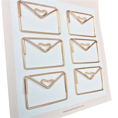 paper envelope set of 6 gold lunarbay