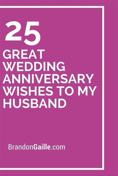 25 Great Wedding Anniversary Wishes To My Husband
