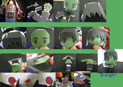 Papercraft Tutorial - chibi papercraft tutorial by bunnycharms on deviantart