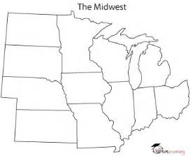 Midwest States And Capitals Blank Map by Gallery For Gt Blank State Map Midwest