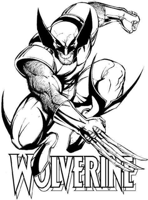wolverine coloring pages for free free printable wolverine coloring pages for