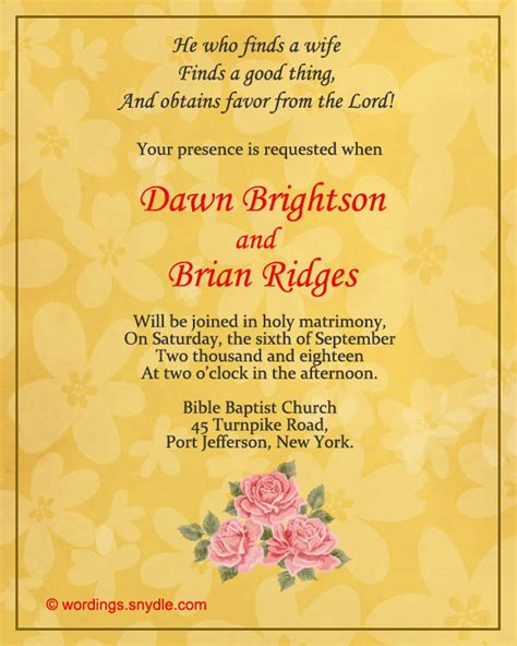 Wedding Invitations Wording In by Wedding Invitation Models In Christian Wedding