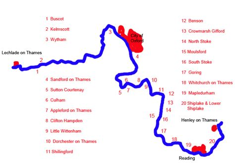 map of river thames bridges vale of white horse villages on the river thames