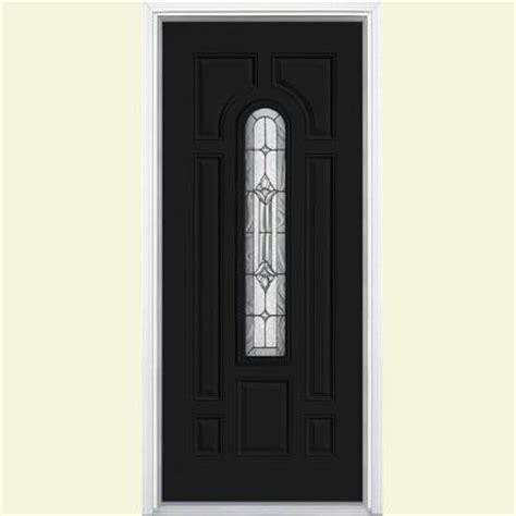 36 X 79 Exterior Door Masonite 36 In X 80 In Providence Center Arch Painted Steel Prehung Front Door With Brickmold