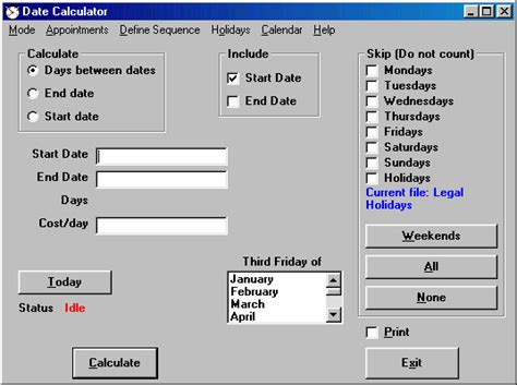 Calendar Days Calculator Date Calculator Calculate The Number Of Days Between Two