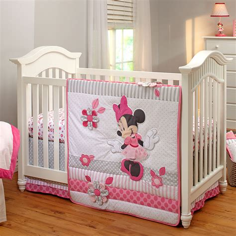 Baby Nursery Crib Sets Minnie Mouse Crib Bedding Set For Baby Personalizable Bedding Disney Store Disney Baby