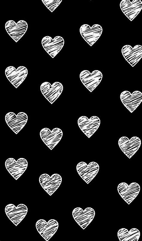 black  white heart wallpaper image