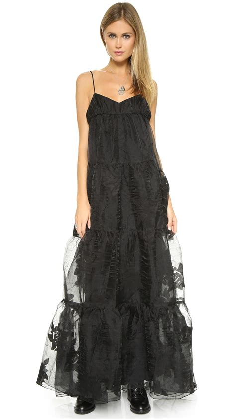 Tier Maxi Dress free black tiered maxi dress ballet in black lyst