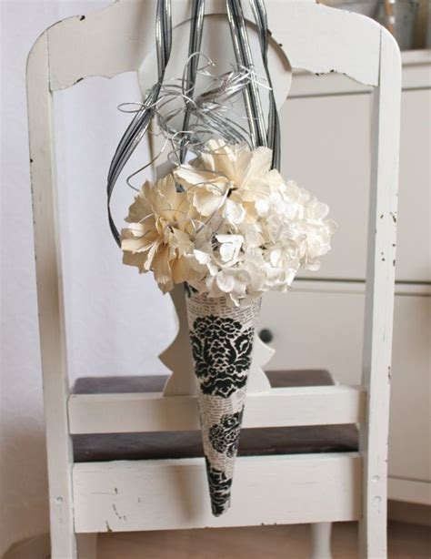 paper cones for wedding flowers hanging cone wedding